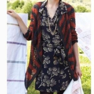 Guinevere Anthropologie Open Knit Button Cardigan